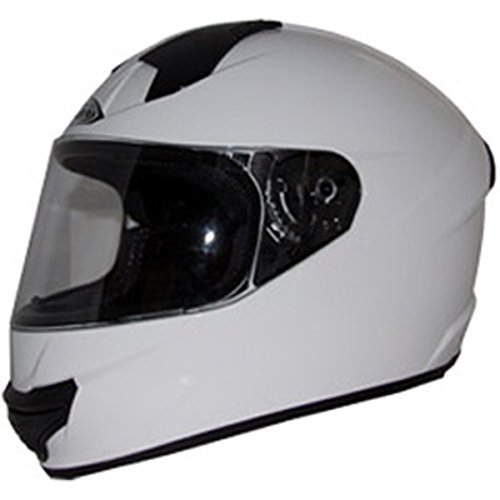 Zox Air (Zox Thunder R2 Adult Street Motorcycle Helmet - Solid Glossy White / Medium)