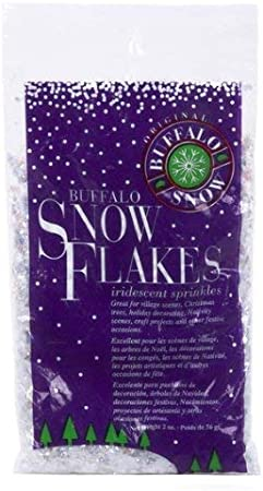 Buffalo Snow IRRIDESCENT SPRINKLES SNOW FLAKES decorative faux DISPLAY /& CRAFTS