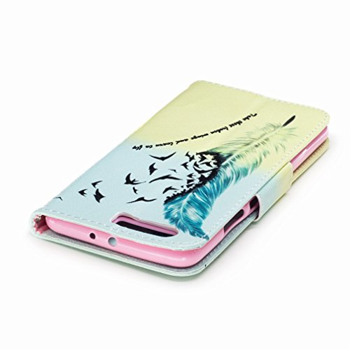 Yiizy Huawei P10 Plus Custodia Cover, Piuma Design Sottile Flip Portafoglio PU Pelle Cuoio Copertura Shell Case Slot Schede Cavalletto Stile Libro Bumper Protettivo Borsa
