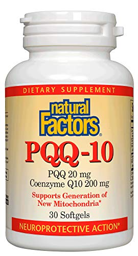- Natural Factors, PQQ-10, Supports Energy and Healthy Aging, Dietary Supplement, 30 softgels (30 Servings)