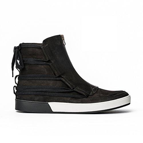 MCNDO Kyoto Chaussures Homme Urbaines de Cuir (9, Noir)