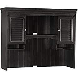 Bush Furniture Stanford Hutch for Computer Desk in Antique Black