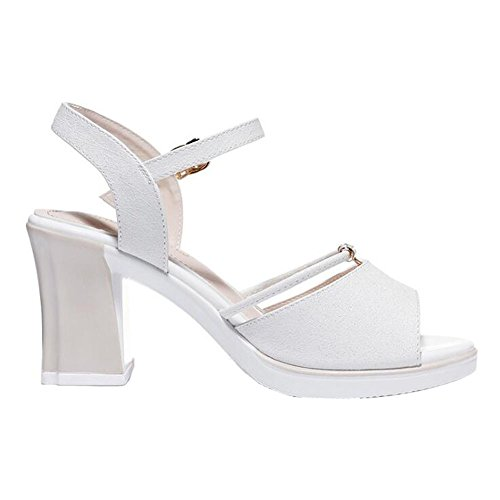 Scarpe 38 Colore Open Dimensioni Tacchi Strass Pietre Alti Sandali Toe store Tallone Shoe Donna Spesso da Bianca vwTqOn