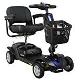 FOXTR Scooters Foxtr 1 Travel Mobility Scooter With Ultra Suspension, 4 Wheels, Blue