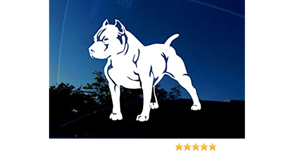 facing RIGHT Large 5.5 x 5 inches AmiArt PITBULL Decal Sticker I Love my Pit Bull Dog Lover Pet Outdoor//Indoor Vinyl Car Window Laptop AmiArt.com