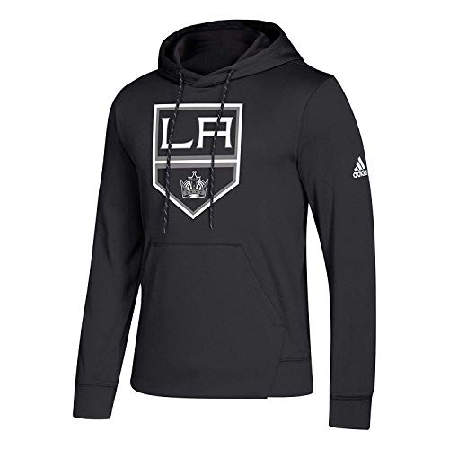 Los Angeles Kings Black Adidas Synthetic Poly Finished Hockey Hoodie ()