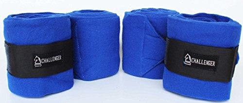 Horse Tack Grooming Leg set of 4 Fleece Polo Wrap Blue Equine Care Rodeo 95R17