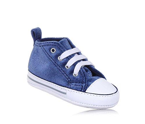 858880C CONVERSE gris azul marino gris zapatos de bebé de la cuna todas mediados estrellas Blu