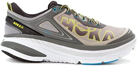HOKA ONE ONE Men s Bondi 4 Shoe 8, Grey Citrus