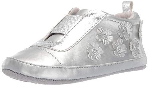Ro + Me by Robeez Girls' Slip On Sneaker Crib Shoe, Flowers, 18-24 Months