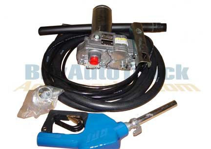 GPI 110000-100 Aluminum M-150S-AU Fuel Pump with Automatic Nozzle, 12V DC by GPI