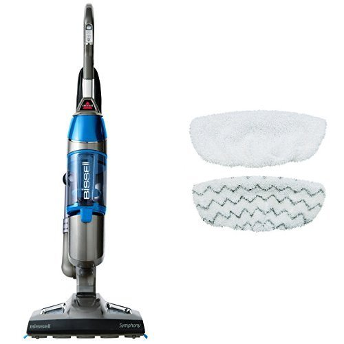 Enhanced Cleaning Bundle - Symphony Steam Mop + Symphony Hard Floor Vacuum and Steam Mop Kit by Bissell