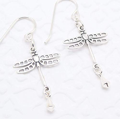 Dragonfly Silver Earring - Dragonfly Earrings in Sterling Silver