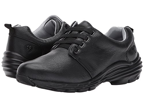 (Nurse Mates Women's Velocity Slip Resistant Shoes, Black Leather Size 9 Wide US)