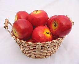 12 Piece Red Apple Decorative Fruit