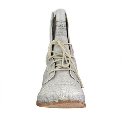 Mustang 1157527 - botas clásicas de caña media Mujer Silber (21 silber)