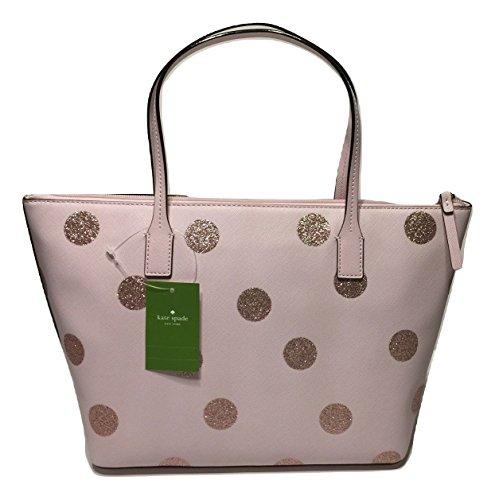 Kate Spade New York Haven Lane Hani WKRU4119 Pink Glitter Polka Dot plmdwn/dot (679) bundled with matching Stacy Wallet by Kate Spade New York (Image #3)