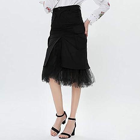 DQHXGSKS Patchwork Faldas de Tul Falda de Cintura Alta Falda de ...