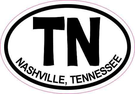 3x2 oval tn nashville tennessee sticker vinyl cup decal vehicle stickers by stickertalk