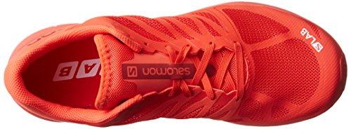 Salomon Lab Sonic 2 Scarpe Da Trail Running Unisex - Adulto Rosso bianco racing Red molten Lava white
