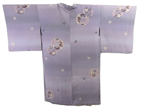 最近注ぎます提供リサイクル 羽織 四季花文様 正絹 裄66cm 身丈102cm