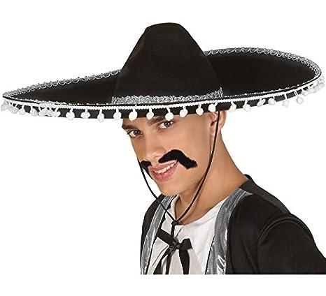 e5e89827be1bb Sombrero Mexicano Negro y Blanco  Amazon.es  Juguetes y juegos