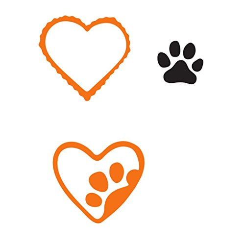 Vanvler Metal Cutting Dies Stencils Scrapbooking Embossing DIY Crafts (A dog footprint (Footprint Ideas For Halloween)