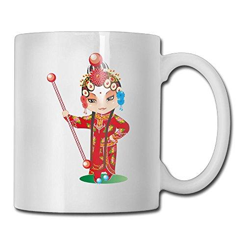 (Funny Quotes Mug With Sayings - Peking Opera Brave Girl - Gift Idea Coff Mug Ceramic White 11)