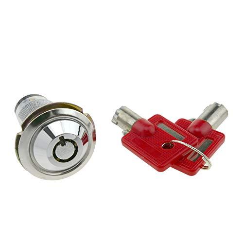 (PrimeMatik 27mm x M18 Cam Lock with Tubular Key with Switch (KY004))