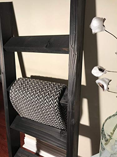 3, 4 or 5 ft Vintage Black Blanket Ladder, Quilt Ladder, Wood Ladder, Towel Ladder, Farmhouse Ladder ()