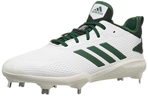 online store 5410a 75e78 adidas Men s Adizero Afterburner V Baseball Shoe Cloud White Dark  Green Black 12 M