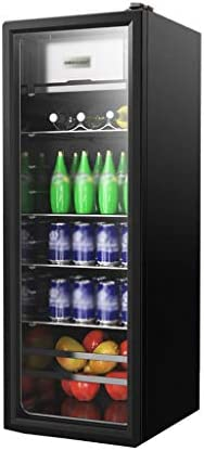 WANGLX ワインクーラー、飲料冷蔵庫、38DB、138L、パティオ屋外の冷蔵庫、ガラスドア付き冷蔵庫ホームアイスバー、オフィスやバーのための飲料冷蔵庫クーラー