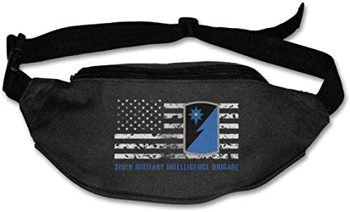 319番目の軍事情報旅団ユニセックス屋外ファニーパックバッグベルトバッグスポーツウエストパック