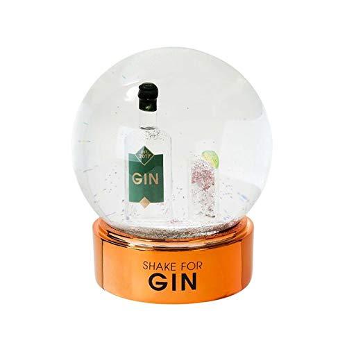 Talking Tables Boule de Neige de No/ël Snow Globes /à Boire Gin Cadeaux pour Les Amateurs de Gin Gag Gifts 12,7/cm H