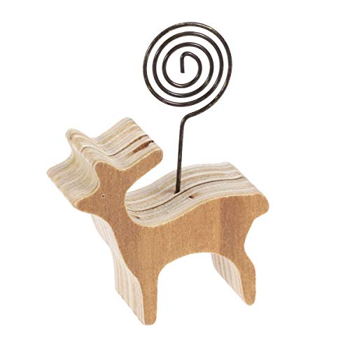 - Toyvian Table Number Holder Name Place Card Holder with Lamb Base Photo Clip Display Note Message Holder Desktop Ornament