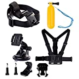 Navitech 8-in-1 Action Camera Accessories Combo Kit with EVA Case Compatible with The Samsung HMX-QF30BP/EDCSENDOW 4K HD | SENSORIE WiFi Action Cam