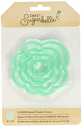 American Crafts 374084 4 Piece Sweet Sugarbelle Flower Nested Cookie Cutter