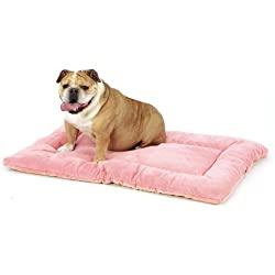 "Ultra Soft & Reversible Crate Bedding, Medium Fits Midwest 30"" Crate- Pink by Pet Dreams"