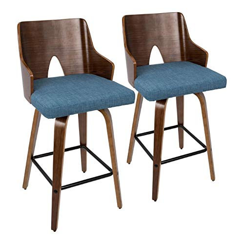 26 in. Mid-century Modern Counter Stool - Set of 2