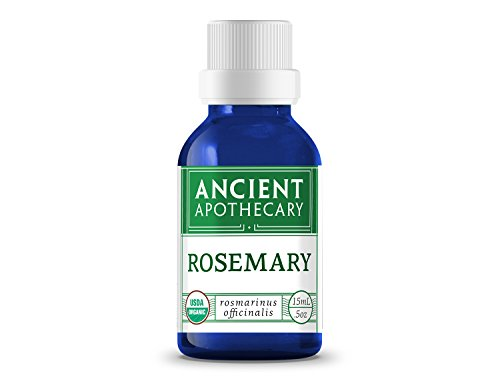 Rosemary Organic Essential Oil from Ancient Apothecary, 15 mL - 100% Pure and Therapeutic Grade