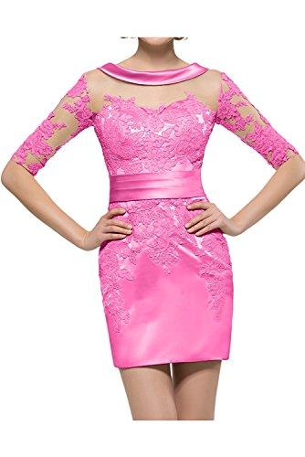Bestfort Damen Ohne Arm Elegant Kleid Etuikleid O-Ausschnitt Business Stretch Drucken Blumen Partykleid Cocktail Figurbetontes Die Taille Sommer