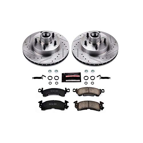 76 Caprice Impala - Power Stop K4539 Front Brake Kit with Drilled/Slotted Brake Rotors and Z23 Evolution Ceramic Brake Pads