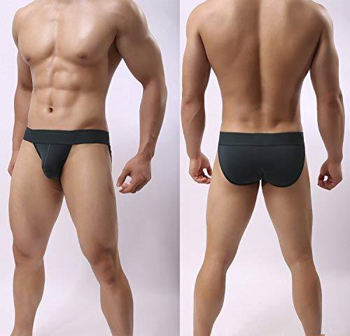YuKaiChen Mens Silk Underwear Breathable Mesh Bikini Briefs Low Rise 5-Pack Small