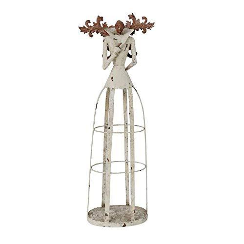 Attraction Design Antiqued Metal Weathered Metal Garden Angel Statue by Attraction Design