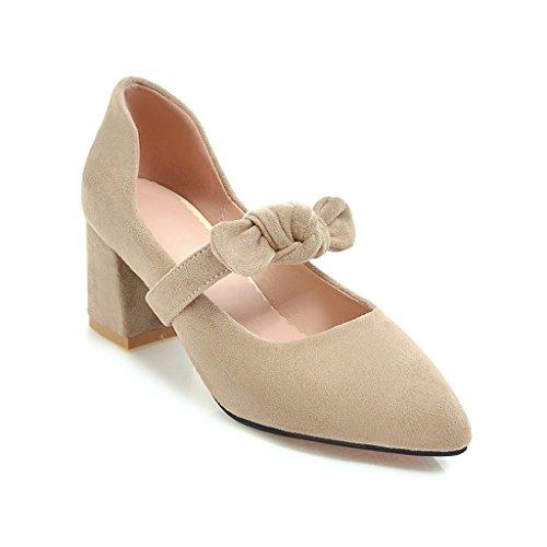 A la luz de la primavera con el tamaño, la luz los singles femeninos zapatos creamy-white