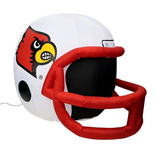 NCAA Louisville Cardinals Team Inflatable Lawn Helmet, White, One ()