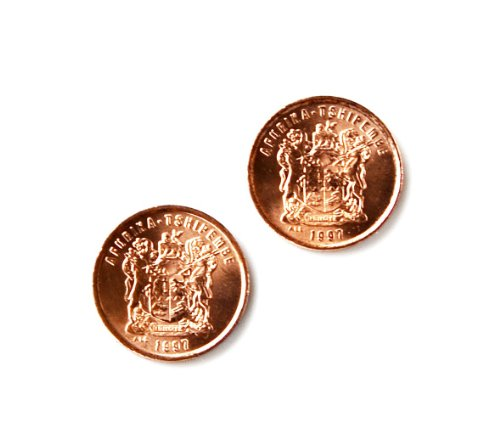 Quality Handcrafts Guaranteed South Africa Coin Cufflinks by Quality Handcrafts Guaranteed
