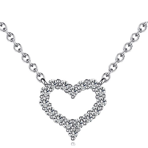 Crystal Open Heart Charm - 1