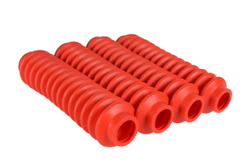 4 Shock Boots Red Fits Most Shocks for Jeep Cherokee XJ All Models