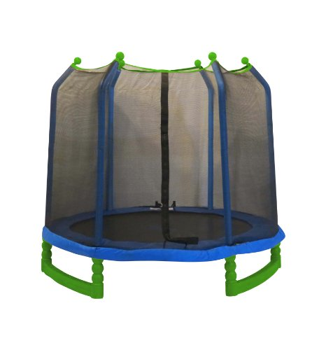 Upper Bounce Indoor/Outdoor Classic Trampoline and Enclosure Set...